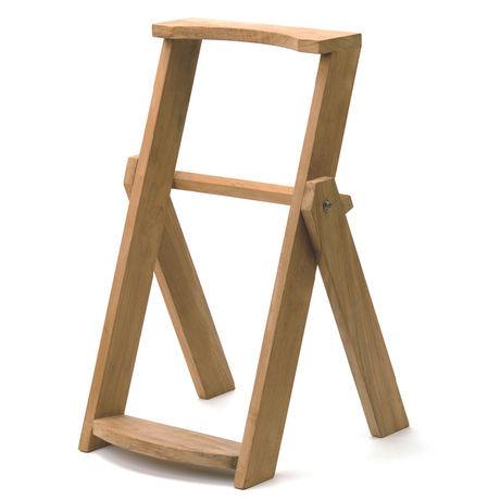 Taschenständer aus Teak Holz, klappbar