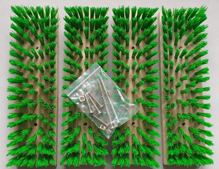 Ersatzbürsten für Schuhreiniger grün