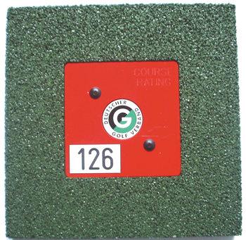Grundplatte aus Gummi-Granulat, grün / 250 x 250 x 22 mm