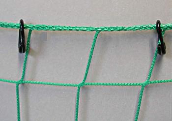 offene Ringe aus Nylon 9 mm je Meter 3 Stck im Netz befestig