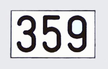 Gravierte Zahlenplatte aus Resopal mit Facettenschliff