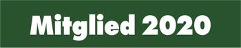 """Jahresaufkleber 50 x 10 mm grün/weiß """" Mitglied 2020 """""""