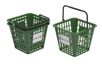 Kunststoff-Korb grün, 75 Bälle