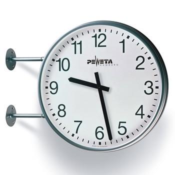 Peweta® Wetterfeste Funk-Außenuhr-doppelseitig-Wandhalterung
