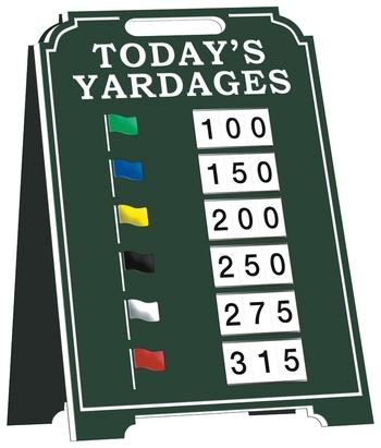 Entfernungsanzeige - grün
