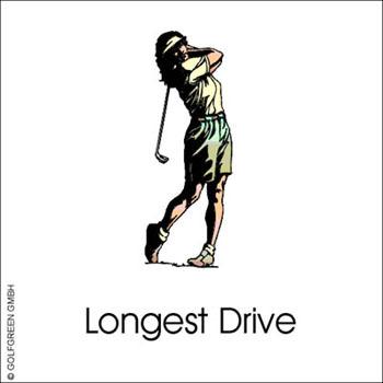 "Alu Schild, (30 x 30 cm) Longest Drive ""Damen"""