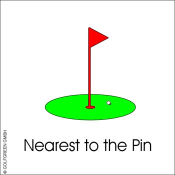 Alu Schild, (30 x 30 cm) Nearest to the Pin