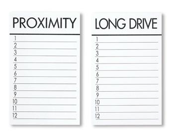 Ersatzkarten für LONG DRIVE / PROXIMITY ( 25 Stck)