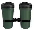 Doppel-Abfallbehälter aus Kunststoff mit Deckel, grün