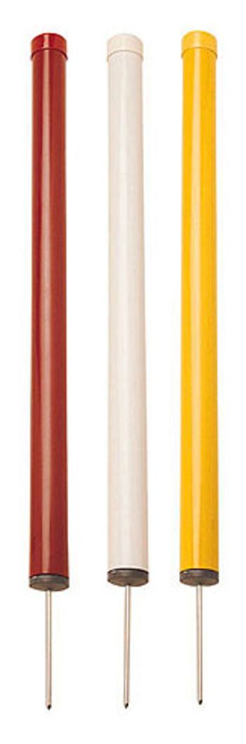 PVC Gefahrenmarker mit Spikes, weiß (Begrenzung)