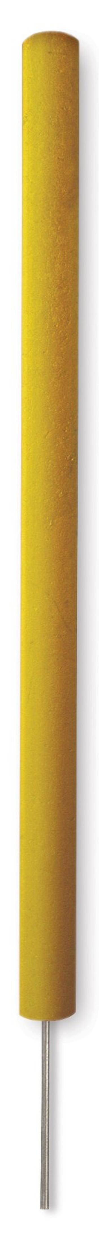 Runde Gefahrenmarker aus Recyclingkunststoff mit Spike, gelb