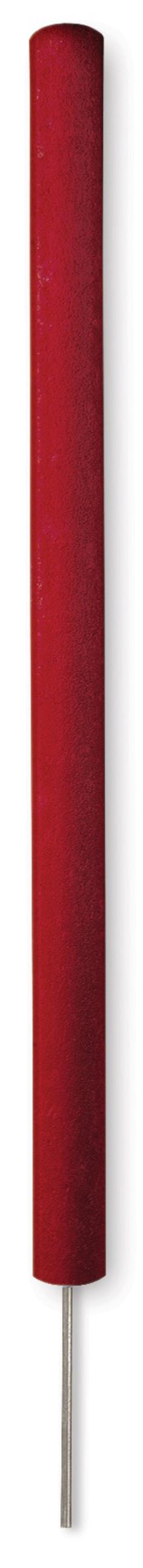 Runde Gefahrenmarker aus Recyclingkunststoff mit Spike, rot