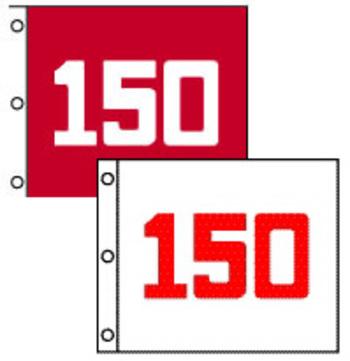 RANGE Flaggen (63 x 45 cm) weiß mit roter Zahl