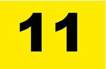 NYLON Flagge gelb/schwarz TL 10-18