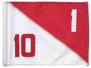 NYLON Flagge SEMAHPORE TL, mit No. 1/10 - 9/18 rot /weiß