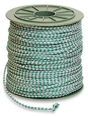 Polypropylen Seil grün/weiß, 304 m