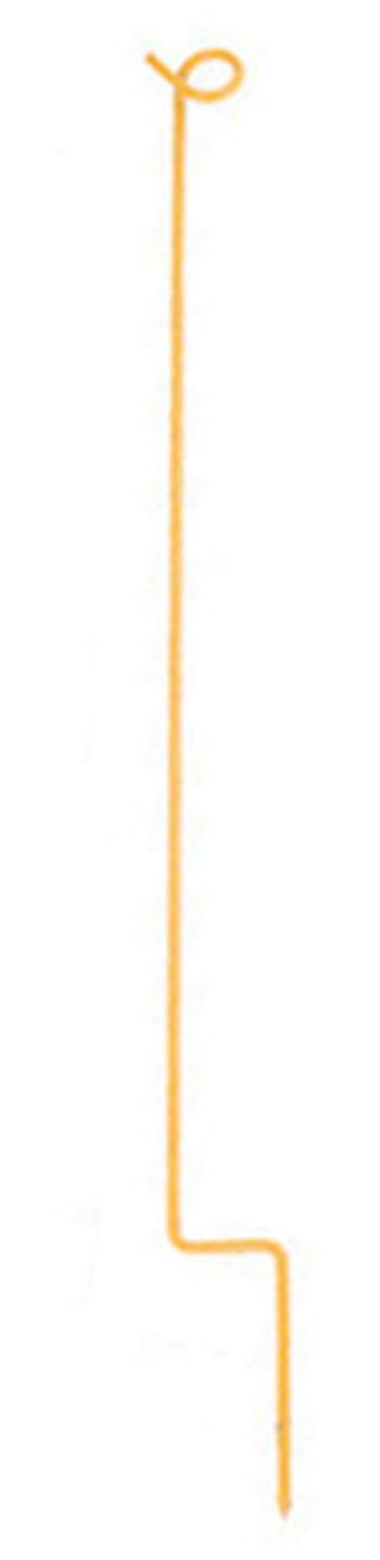 Stake für Seil 81 cm, gelb