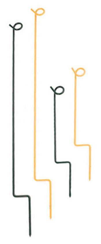 Stake für Seil 36 cm, gelb