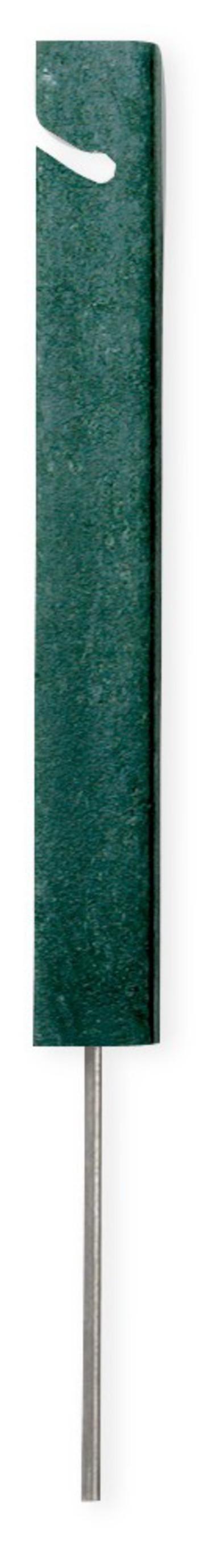 Seilpfosten rechteckig 30 cm, Recycling Kunststoff, grün