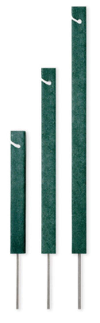 Seilpfosten rechteckig 30 cm, Recycling Kunststoff, schwarz