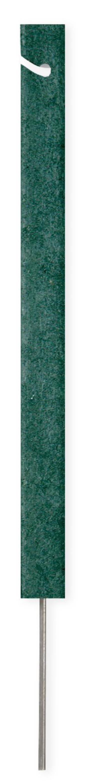 Seilpfosten rechteckig 46 cm, Recycling Kunststoff, grün