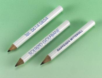 Bleistifte mit Aufdruck, blau, rund / Karton à 144 Stck.