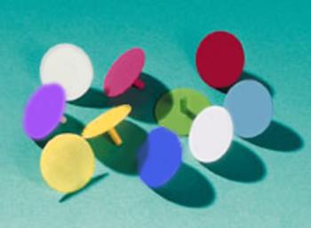 Ballmarker, farbig sortiert
